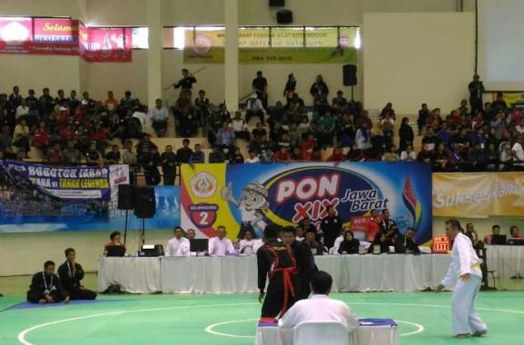 Pertandingan cabang pencak silat PON XIX Jawa Barat di Graha Laga Satria, ITB, Jumat, 23/9/2016 | ist