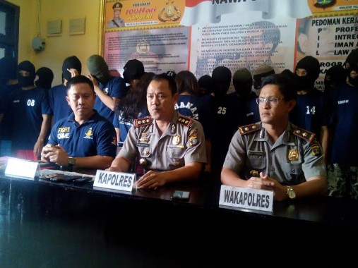 Ekspose Polres Lampung Utara, Kamis, 1/9/2016 | Lia/jejamo.com