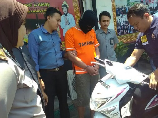 Lagi, Pelaku Curanmor asal Lampung Timur Dibekuk Polisi
