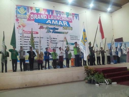 Kabaret Rohis SMPN 25 Bandar Lampung Apik Bawakan Lakon Kerajaan Dakwah Grand Launching Amar