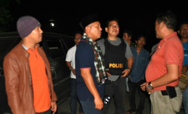 Gelar Ronda Keliling, Bupati Mustafa Dapati Polisi Sedang Tangkap 4 Pelaku Penggelapan Motor