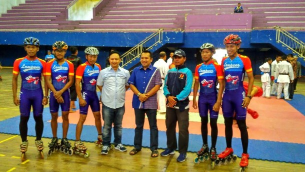 Tim sepatu roda Lampung. | Ist