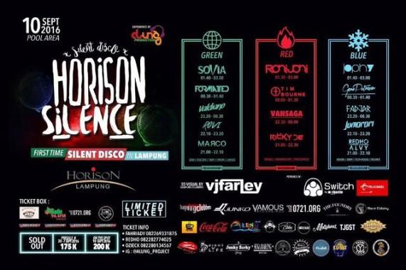 Pertama Kali di Lampung, Horison Hotel Lampung akan Gelar Acara Silence Disco