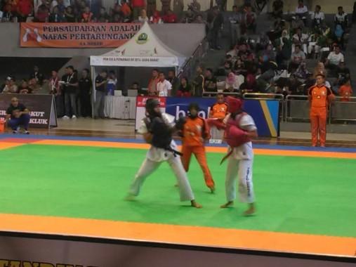 Pertandingan semifinal cabang tarung drajat PON XIX Jawa Barat | ist