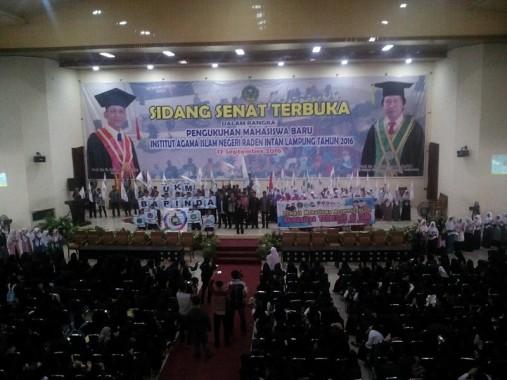 UKM Bapinda IAIN Raden Intan Lampung bikin GSG setempat bergemuruh, Sabtu, 17/9/2016. | Desliyani/Jejamo.com