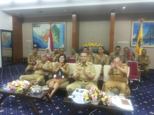 Kegiatan video conference tersebut digelar di ruang rapat utama Gubernur Lampung, Selasa, 27/9/2016 | Sugiono/jejamo.com