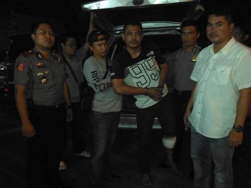 Samsul, pelaku begal, ditangkap Polresta Bandar Lampung, Rabu dini hari tadi. | Andi Apriyadi/Jejamo.com