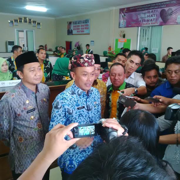 Pemkab Lampung Utara akan Menjadi Daerah Percontohan Pelayanan Adminduk Tercepat di Indonesia