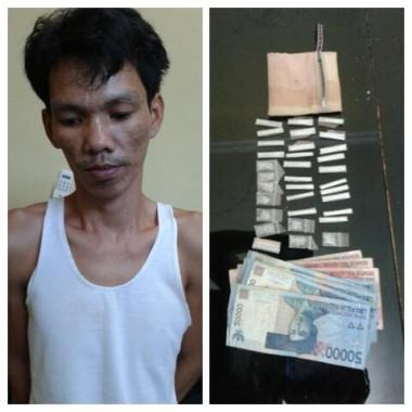 Tersangka berserta barang bukti saat berada di Mapolres Lampung Tengah | ist