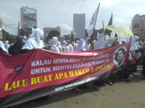Lecehkan Al-Quran, Massa HTI Lampung Minta Gubernur Jakarta Ahok Dihukum