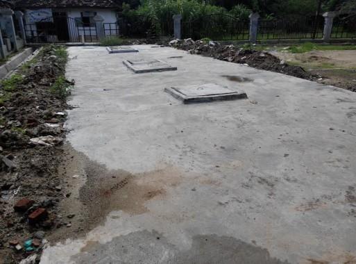 Tempat pengolahan air limbah pasar Tradisional Tejo Agung Metro Timur yang menelan biaya Rp1.199.000.000 | Parman/jejamo.com