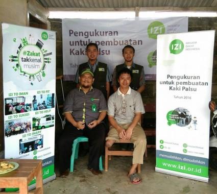 IZI Lampung Ukur Calon Penerima Kaki Palsu di Metro dan Lampung Tengah