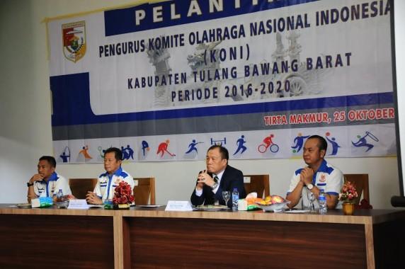 Wakil Bupati Fauzi Hasan Hadiri Acara Pelantikan KONI Kabupaten Tulang Bawang Barat