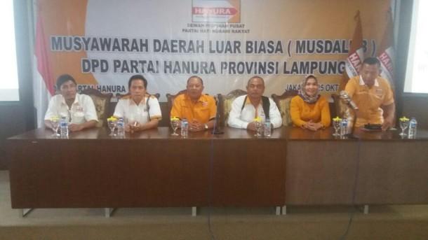 DPD Hanura Lampung Hari Ini Gelar Musdalub di Jakarta