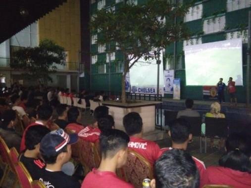 Nonton Bareng Chelsea VS MU di Hotel Horison Bandar Lampung Berlangsung Meriah