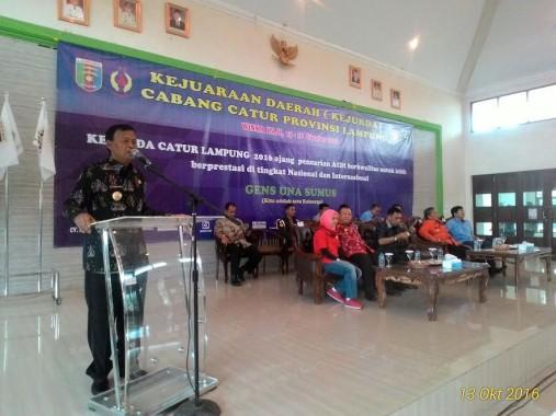 Wali Kota Metro Achmad Pairin Buka Kejurda Olahraga Catur