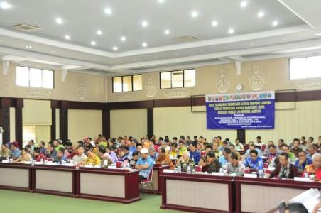 Sekdaprov Pimpin Rakor dengan Sekda se-Lampung