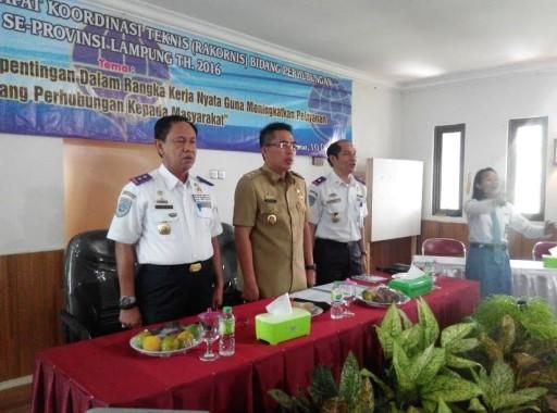 Dishub dari 15 Kabupaten dan Kota di Lampung Gelar Rakornis di Lampung Timur