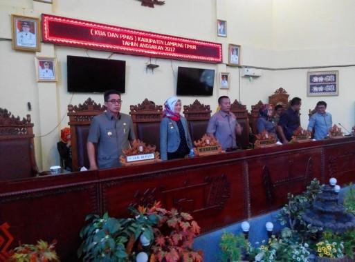 DPRD Lampung Timur Gelar Sidang Paripurna Penyampaian KUA dan PPAS Tahun Anggaran 2017
