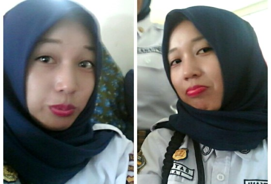 Kenalan Sama Riza Aryani Satpam Cantik IAIN Raden Intan Lampung Yuk