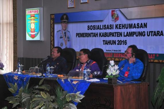 Pemkab Lampung Utara Gelar Sosialisasi Kehumasan