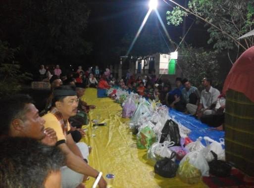 Acara syukuran dan doa bersama warga Desa Tejo Agung, Kecamatan Metro Timur, Kota Metro | Suparman/jejamo.com