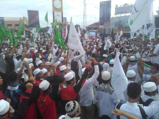 Umat Islam Lampung Janji Turunkan Massa Lebih Besar Tuntut Ahok Ditangkap