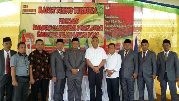 KPU Tulang Bawang Barat Tetapkan Calon Bupati dan Wakil Bupati Peserta Pilkada 2017