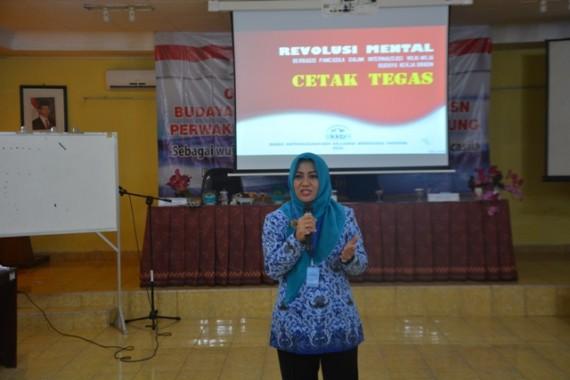 Orientasi Internalisasi Budaya Kerja Cetak Tegas diikuti karyawan Perwakilan BKKBN Lampung, Senin, 17/10/2016. | Ist
