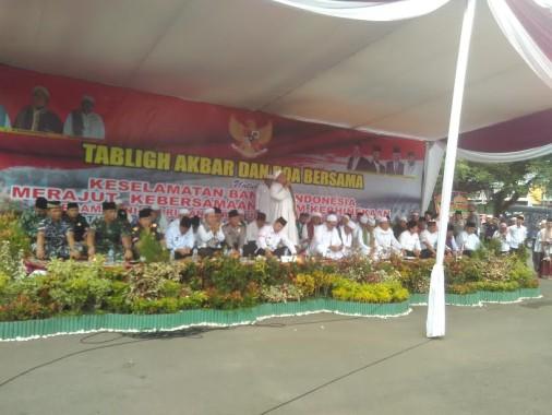 TNI dan Polri Gelar Doa Bersama, Kapolda Lampung: Saya akan Laporkan Berapa Orang yang Berangkat Demo 2 Desember