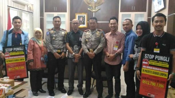 Ombudsman Lampung dan  Komunitas Anti Pungli Berkunjung ke Polresta Bandar Lampung