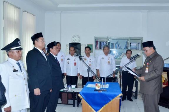 Sekda Lampung Utara Samsir Lantik 3 Pejabat Baru Eselon III