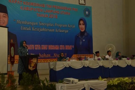 TP PKK Lampung Utara Gelar Rakor Tingkat Kabupaten 2016