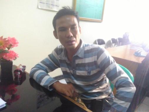 Saidan, satpam IAIN Raden Intan Lampung, korban pengeroyokan. | Andi Apriyadi/Jejamo.com