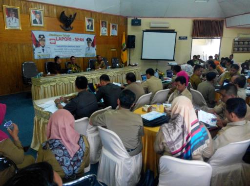 Cegah Pungli, Pemkab Lamtim Gelar Sosialisasi E-Lapor-SP4N