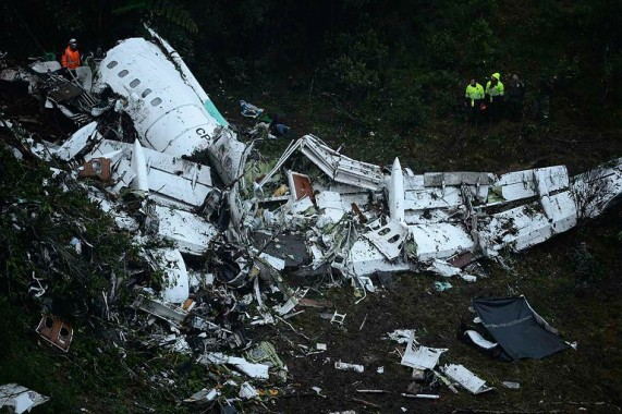 Pesawat Pembawa Tim Sepak Bola Brazil Jatuh di Kolombia, 25 Orang Tewas