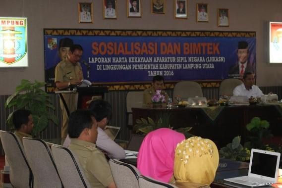 Pemkab Lampung Utara Gelar Bimtek dan Sosialisasi LHK ASN