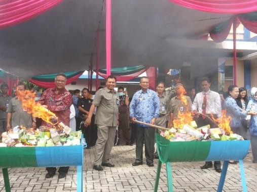 BPOM Lampung Musnahkan Bahan Obat dan Makanan Berbahaya Senilai Rp 387 Juta