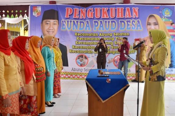 Bunda PAUD Lampung Utara Kukuhkan Bunda PAUD Desa