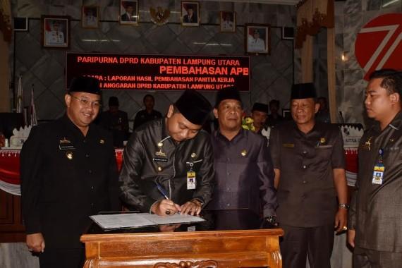 APBD Lampung Utara tahun 2017 Disahkan Defisit Rp277 Miliar