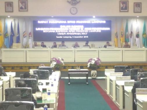 DPRD Lampung Sahkan APBD Pemprov Lampung Tahun 2017 Sebesar Rp6,8 triliun