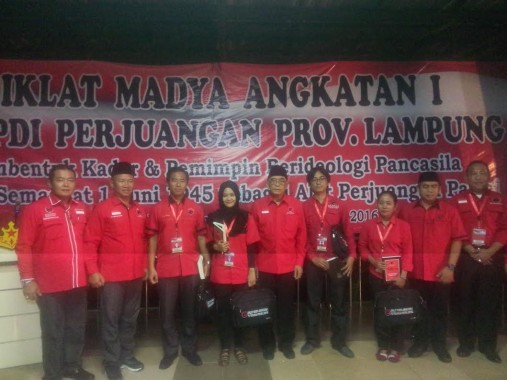 Idham Samawi Buka Diklat Madya Angkatan I PDIP Lampung