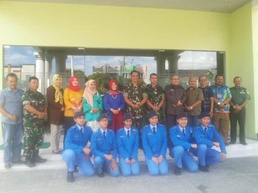 Kunjungi Makorem 043 Gatam, Siswa SMA Taruna Nusantara Disambut Danrem