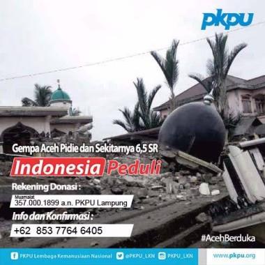 Mau Bantu Korban Gempa Pidie, Hubungi PKPU Lampung Di Sini
