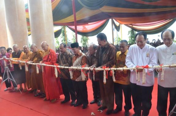 Wali Kota Bandar Lampung Herman HN Hadiri Peresmian Sekolah Tinggi Agama Budha