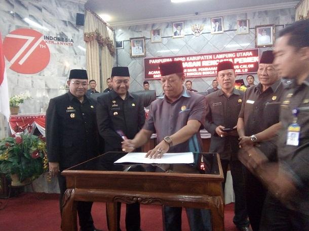 Bupati dan DPRD Lampung Utara Setujui Rencana Pemekaran Kabupaten Sungkai Bunga Mayang
