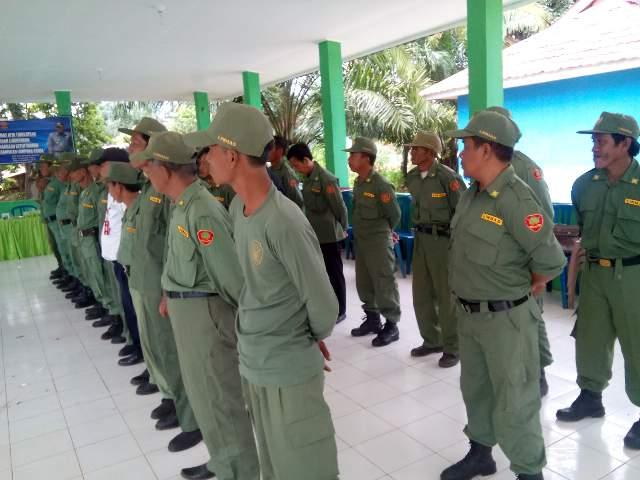Satpol PP Lampung Utara Beri Pembinaan kepada Anggota Linmas