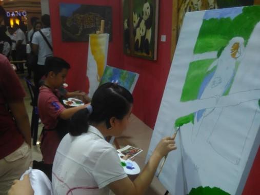 Yuk 'Jajan Lukisan' di Mal Bomie Kedaton