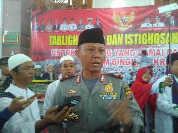 Kapolda Lampung Akui Hambat Massa Aksi Bela Islam III dari Sumatera