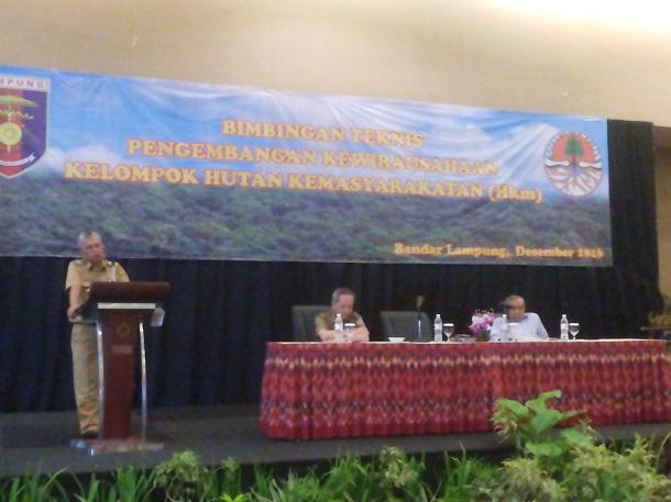 20 Kelompok HKM di Lampung Ikuti Bimtek Dinas Kehutanan Provinsi